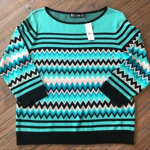 New York & Co. size L 3/4 sleeve sweater top